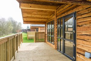 Log Cabin Outdoor Decking