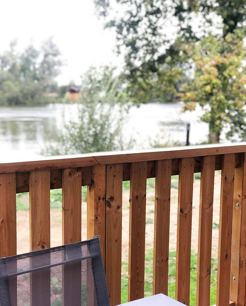 Decking with lake view