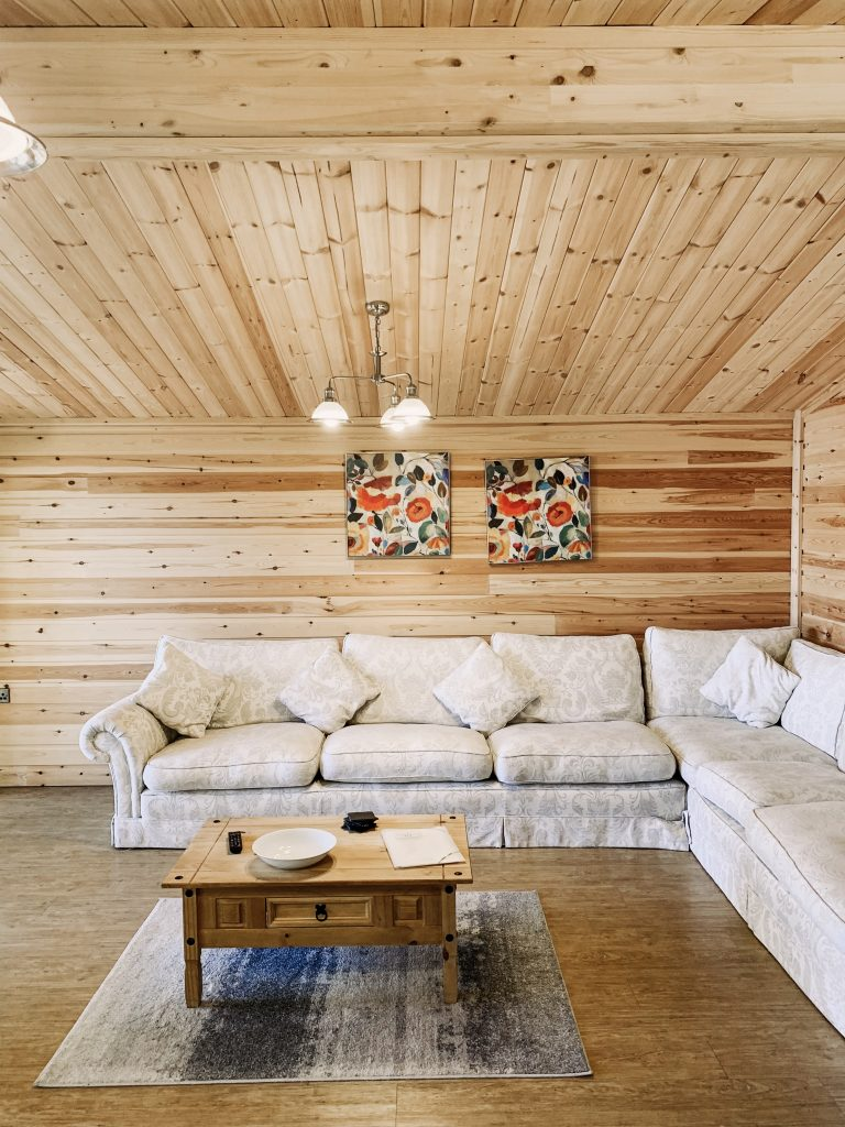 Executive Log Cabin Living Area