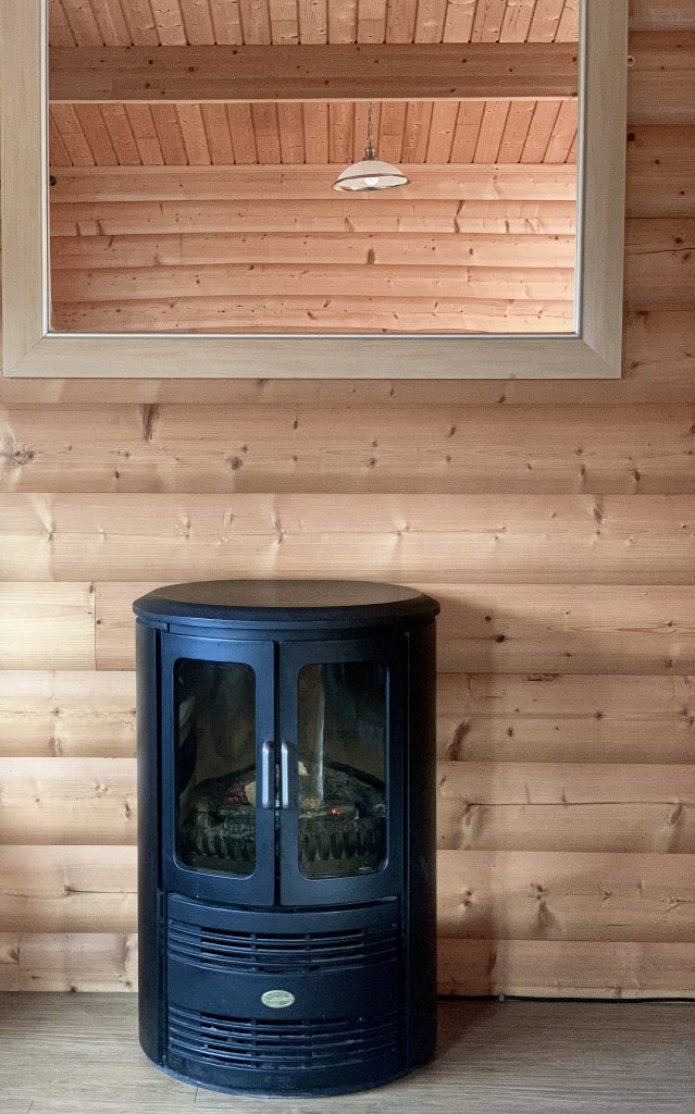 Log Burner in Cabin